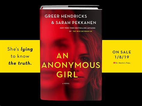 Book Review: An Anonymous Girl by Greer Hendricks & Sarah